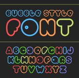 Colorful cartoon font. Cute vector alphabet. Baby font Royalty Free Illustration
