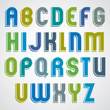 Colorful cartoon font, rounded upper case letters Stock Photos