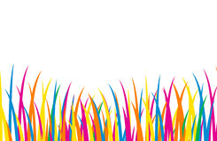 Colorful Cartoon Grass Stock Photo