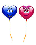 Colorful  cartoon heart balloons Royalty Free Stock Image