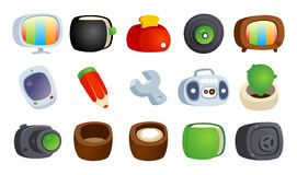 Colorful cartoon icons. Stock Photos
