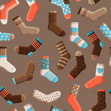 Colorful cartoon kids socks seamless pattern Royalty Free Stock Photo
