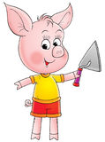 Colorful cartoon pig Royalty Free Stock Image