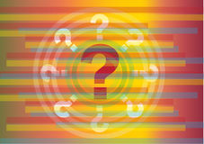 Colorful cartoon question marks Stock Photos