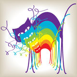Colorful cartoon rainbow cats Royalty Free Stock Images