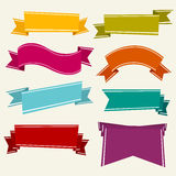 Colorful Cartoon Ribbons Stock Photography