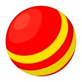 Colorful cartoon rubber ball toy royalty free illustration
