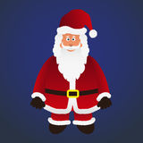 Colorful cartoon Santa Claus with red outfit Stock Photos