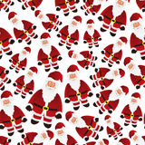 Colorful cartoon Santa Claus with red outfit seamless pattern eps10 Royalty Free Stock Images