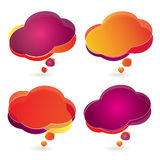 Colorful cartoon speech bubbles Royalty Free Stock Photos