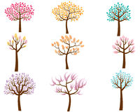 Colorful Cartoon Trees Royalty Free Stock Image