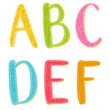 Colorful Cartoon Vector Letters With Texture Royalty Free Stock Image