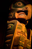 Colorful Carved Wooden Totem Stock Image