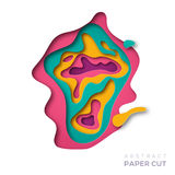 Colorful carving paper shapes Royalty Free Stock Photography