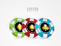 Colorful casino chip. Stock Photos