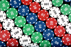 Colorful Casino Chips Royalty Free Stock Image