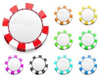Colorful casino chips Royalty Free Stock Images