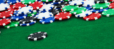 Colorful casino chips background Stock Photography
