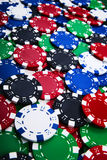 Colorful casino chips background Royalty Free Stock Photography