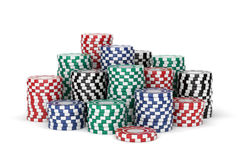 Colorful casino chips Stock Images