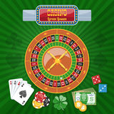 Colorful Casino Poster Royalty Free Stock Photo