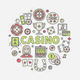 Colorful casino vector illustration Stock Photo