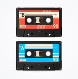 Colorful Cassette Tape Old Set. Vector Royalty Free Stock Photo