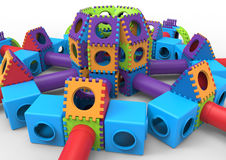 Colorful castle playground Royalty Free Stock Photos