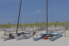 Colorful Catamarans on the Beach Royalty Free Stock Image