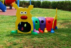 colorful caterpillar toy and playground Royalty Free Stock Images