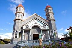 The colorful catholic church of Zarcero, Costa Rica Royalty Free Stock Image