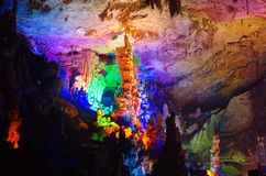 Colorful Cave in Yaolin WonderLand Stock Image