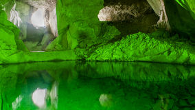 Colorful cave Stock Images