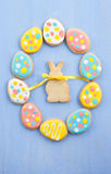 Colorful ccokies for easter Royalty Free Stock Photos