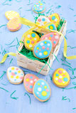 Colorful ccokies for easter Royalty Free Stock Images
