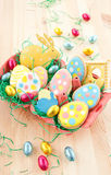 Colorful ccokies for easter Stock Image