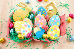 Colorful ccokies for easter Royalty Free Stock Photography