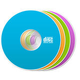 Colorful cd. Illustration isolated of colorful compact discs Royalty Free Stock Photo