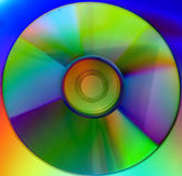 Colorful CD Background Stock Photography
