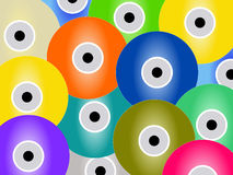 Colorful CD background Stock Photos