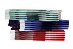 Colorful CD Cases Stock Images