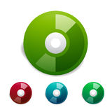 Colorful cd icon set. Vector Stock Image
