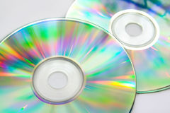 Colorful cd disks Royalty Free Stock Photography