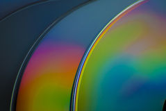 Colorful CD's awesome lighting studio Royalty Free Stock Photography