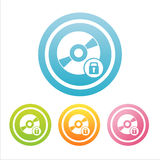 Colorful cd signs Royalty Free Stock Image