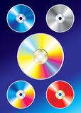 Colorful cds Stock Images