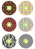 Colorful cds. Set of 6 colorful cds Stock Photography