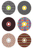 Colorful cds. Set of 6 colorful cds Royalty Free Stock Photos
