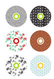 Colorful cds. Set of 6 colorful cds Stock Photo