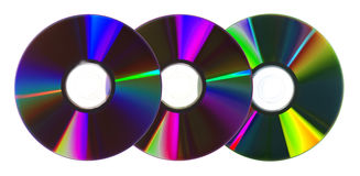 Colorful CDs/DVDs Royalty Free Stock Photos